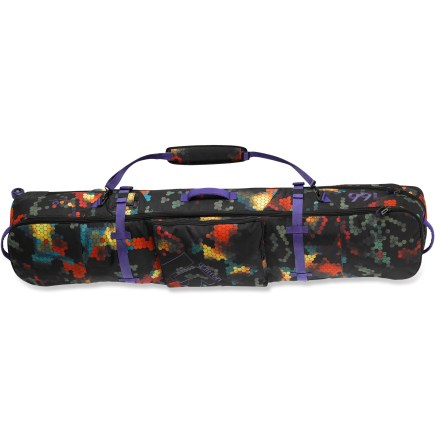 Snowboard This women's Burton Wheelie Board snowboard case offers up plenty of protection and organization for your boards and gear, plus smooth-spinning, replaceable wheels for easy rollin'. - $118.83