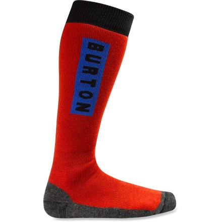 Snowboard The Burton Emblem socks walk the line between total comfort and absolute dependency! Their blend of midweight insulating yarns and strategically placed cushioning make it the optimal snowboard sock. - $12.93