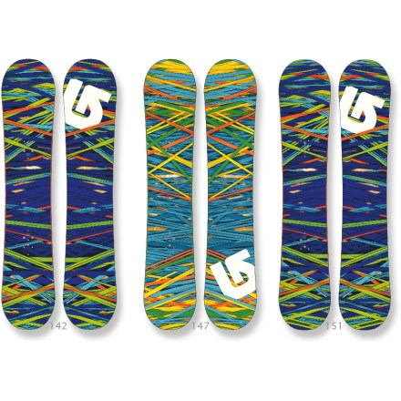 Snowboard The Burton Social snowboard features a catch-free rocker design that can handle any feature on the mountain. Rock out on the hill. - $184.83