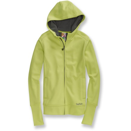Snowboard An everyday favorite, the Burton North Star fleece hoodie wraps you in heavenly warmth. Bonded fleece feels exceptionally soft against your skin. Hood adds warmth at a moment's notice. Microfleece-lined hand pockets. Rib-knit cuffs and hem. Closeout. - $39.73