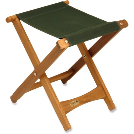 Camp and Hike Enjoy the comfort of the handcrafted Byer Pangean folding stool after a long day on the trail. Made from keruing wood, a strong, durable hardwood. Wood is handcrafted and then oil finished for an attractive look before being assembled. All-weather polyester seat provides long-lasting use. Byer Pangean folding stool folds flat for storage; sets up quickly and easily. - $25.93