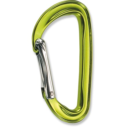 Climbing Weighing a mere 36g (1.3 oz.), the C.A.M.P. USA Photon Straight Gate carabiner is one of the lightest key lock carabiners on the market. 'Biner is ideal for racking gear and making quickdraws. Key lock nose won't snag on pro, ropes or slings, making the 'biner simple to clip. Surfaces that come into contact with the climbing rope are wider than other parts of the carabiner for smooth passage of the rope and reduced wear on the 'biner. C.A.M.P. USA Photon Straight Gate carabiner has a large gate opening that makes clipping slings and gear easy. - $7.93
