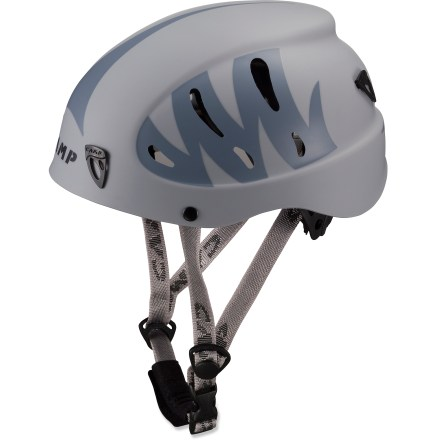 Climbing The C.A.M.P. USA Armour helmet offers an excellent fit and superior protection for rock climbing, ice climbing and mountaineering. Foam interior with soft padding protects head from impacts. Molded ABS plastic shell features 10 vents to encourage airflow. Rear wheel system provides quick and secure adjustment; adjustable, padded chinstrap fine-tunes the fit. C.A.M.P. USA Armour helmet has front and rear clips that hold a headlamp (sold separately) in place. This helmet complies with UIAA and CE safety standards for climbing. - $59.95
