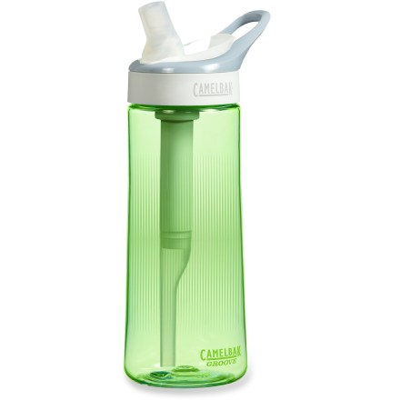 Camp and Hike Use the CamelBak GrooveTM Filter bottle to turn your potable tap water into great-tasting water that you can enjoy while at home, in the office or on the go. - $14.93
