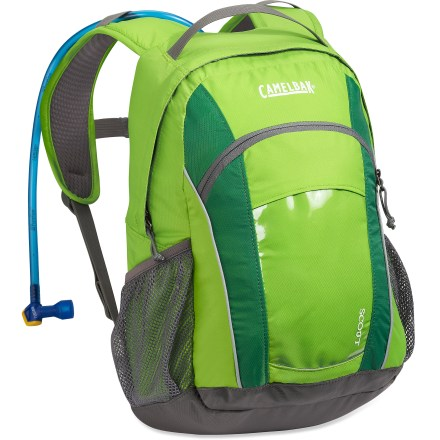 Camp and Hike The kids' CamelBak Scout hydration pack gives your child the pride of self-sufficiency and keeps them happily hydrated on outdoor adventures. - $44.93