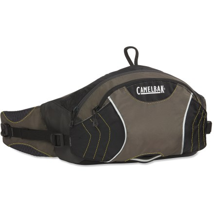Camp and Hike The CamelBak FlashFlo hydration waistpack is perfect for runners, walkers and cyclists. It features an updated reservoir and carries as much water as a double-bottle waistpack. - $27.93