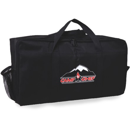 Camp and Hike Transport your Camp Chef Mountain-Series stove (sold separately) to the campsite, tailgate party or family picnic with this double-burner stove carry bag. Roomy interior fits your Camp Chef double-burner stove (sold separately) and extra propane fuel bottles (sold separately). Rugged Cordura nylon stands up to outdoor adventures. Accommodates the Camp Chef Teton, Rainier, Denali, Everest and Butane stoves. - $16.93