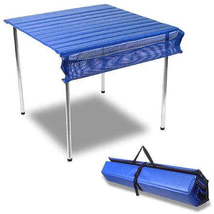 Camp and Hike The easy-to-set-up Camp Time Roll-A-Table is the core of a comfortable camp kitchen. - $59.93