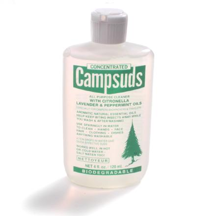 Camp and Hike Use natural aromatic scents to repel insects while you wash--its lingering essence continues to repel long after the wash water is thrown out. - $4.95