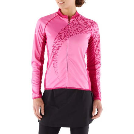 Fitness The Canari Forever Pink bike jersey shows your support for breast cancer research; its bold design ensures that others sit up and take notice. Quick-drying polyester fabric draws moisture away from your body to the outer layer for quick evaporation; full-length sleeves provide warmth for colder temperatures. Extended collar provides extra coverage and warmth; full-length front zipper lets you dump heat quickly as needed, offering temperature control and comfort. Flat seams limit chafing and irritation so you can go as far as your goals take you. Canari Forever Pink bike jersey has 3 back pockets to store gear and small essentials. - $42.83