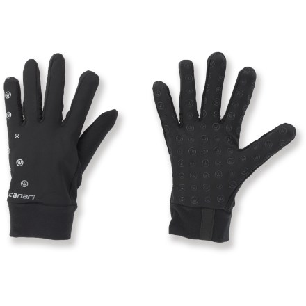 Fitness Canari Grip Liner Bike gloves provide light warmth when worn alone and maximum comfort when layered under shell gloves for cold rides. Thermafleece fabric offers light warmth and moisture management. Silicone palm grips. Reflective logos increase visibility in low light. Overstock. - $8.83