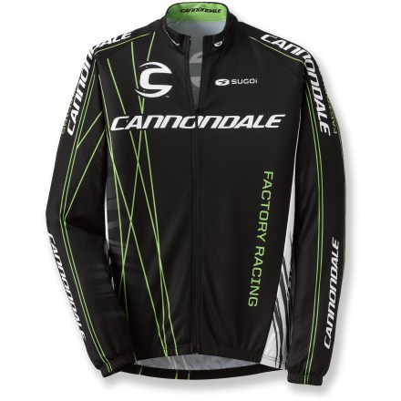 Fitness The Cannondale CFR Team Bike jersey outfits aggressive cyclists for hard-charging rides. CFR stands for Cannondale Factory Racing team. Polyester fabric is moisture wicking and quick drying. Fabric provides UPF 30 sun protection, shielding skin from harmful ultraviolet rays. Fill-zip for easy layering. 3 rear pockets. Closeout. - $47.83