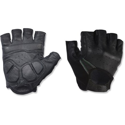 Fitness The Cannondale Open Cycling gloves are the perfect choice for cyclists who require gloves that conform to the shape of their hands for a great fit. Full-grain leather gloves offer you a flexible, comfortable fit and a great grip. Foam padding in palms offers comfort and vibration reduction. Rip-and-stick closures at wrists. Closeout. - $14.83