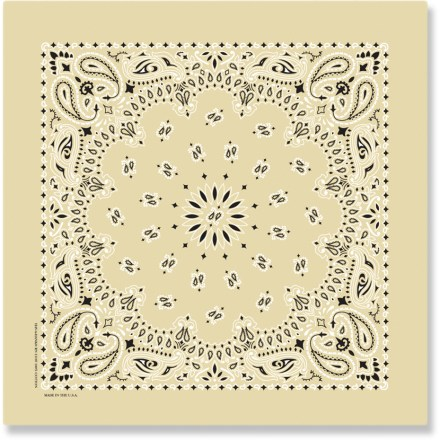 Camp and Hike The all-purpose Carolina Mfg. Paisley bandana absorbs sweat, cleans off trail-grime and offers a multitude of other camp and trail uses. - $4.00