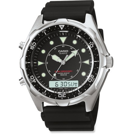 Entertainment The Casio Analog/Digital Sports watch combines the timeless style of an analog timepiece with the function of a digital watch. - $99.95