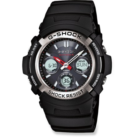Entertainment The Casio G-Shock AWGM100-1ACR Atomic Solar watch will be an instant classic at the gym, in the office or on outdoor adventures. Accurate atomic time and solar power make this a timekeeping workhorse. - $109.93