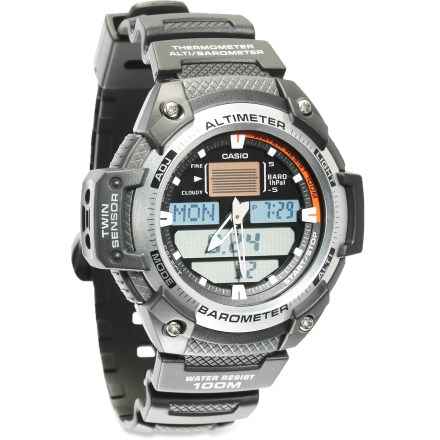 Entertainment The Casio SGW400H-1BV multifunction watch offers a rich feature set to assist with all your outdoor adventures. Its digital altimeter, barometer and thermometer will keep you informed on the go. - $79.95
