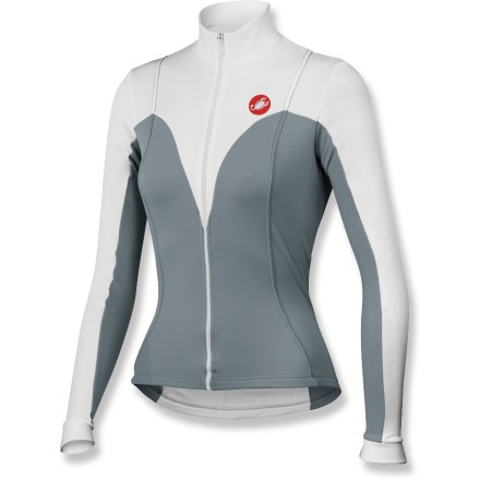 Fitness The Castelli Anima FZ Bike jersey outfits you for mild-weather rides. Warmer fabric is lightly brushed to trap warmth close to the body, move moisture away from the skin and dry quickly. Full-length front zipper lets you ventilate when the activity level rises. 3 rear pockets stash riding essentials. 2 reflective rear tabs. Closeout. - $47.83