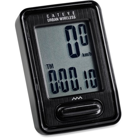 Fitness CatEye Urban bike computer offers easy, 1-button control, carbon offset data and calorie burning estimation for enhanced awareness of your riding results. - $35.93