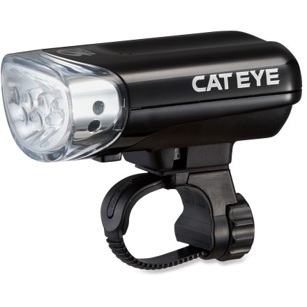 Fitness Offering convenient lighting, the CatEye HL-AU230 Jido front bike light features sensors which automatically turn the light on when it's dark or when you start riding. - $23.93