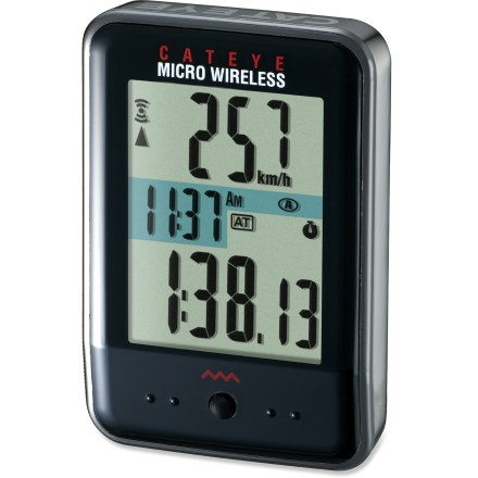 Fitness This small and mighty CatEye CC-MC200W Micro Wireless Comp bike computer allows you to select the functions you want on your display, so what matters to you most remains in full view. - $60.00