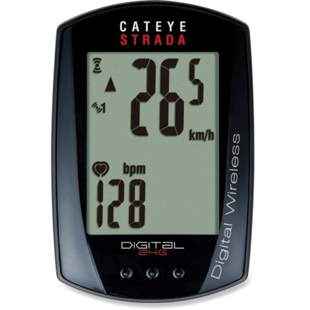 Fitness The CatEye Strada CC-RD420DW Digital wireless bike computer adds heart rate tracking to the simple, reliable and compact Strada design, making it easy to track performance on the go. - $59.93