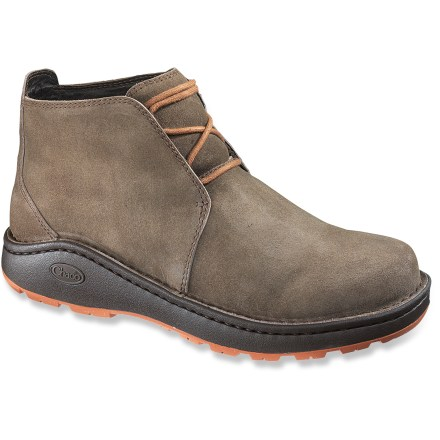 Camp and Hike The Chaco Otis Nurl suede leather boots are stylish enough for casual wear, but rugged enough for light hiking. They offer lasting arch support and sturdy Vibram(R) soles for winter traction. - $49.83