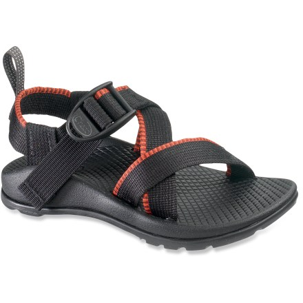 Entertainment The Chaco Z/1 EcoTread sandals offer multisport versatility for everyday adventuring. Adjustable polyester strapping system uses pull-through design to give a secure fit while avoiding the bulkiness of extra buckles and straps. Molded polyurethane topsole/midsole units offer durable, dependable cushioning; anatomically shaped to support arches. EcoTread(TM) rubber outsoles contain 25% recycled rubber and offer superb traction. Toss into washing machine for easy cleaning or clean by hand with scrub brush, baking soda and water; avoid bleach. Proudly carries the Seal of Acceptance from the American Podiatric Medical Association. All-synthetic construction makes the Z/1EcoTread sandals vegan friendly. Closeout. - $28.83