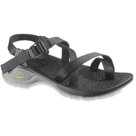 Entertainment Chaco Updraft 2 Bulloo men's sandals are meant for active pursuits, keeping feet comfortable while on the move. Adjustable polyester strapping system uses pull-through design to give you a secure fit while avoiding the bulkiness of extra buckles and straps. Polyester webbing dries faster than nylon, maintaining a uniform fit in all conditions. Shaped polyurethane footbeds/midsoles boast thermoplastic urethane frames to deliver ergonomic support for an especially lightweight fit. Sculpted XO3 LUVSEAT(TM) platform offers 20% weight savings over traditional Chaco sandals without sacrificing the reliable arch support. Vibram(R) Bulloo rubber outsoles offer slip-resistant performance. All-synthetic construction makes these Chaco Updraft sandals vegan friendly. Closeout. - $52.73