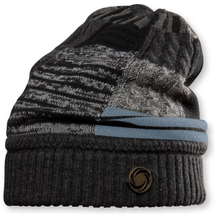 Ski The Chaos Patchwork Slouch beanie offers a unique style and exceptional warmth. Beautiful blend of wool and acrylic makes this hat exceptionally soft and warm. Special buy. - $21.83