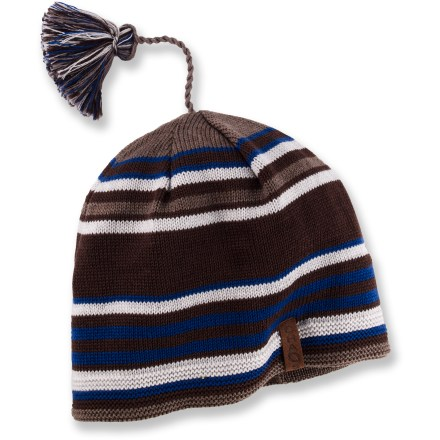 Ski The Fairmont Merino Striped beanie from Chaos warms your head during cold-weather outings. Merino wool wicks away moisture and breathes to regulate temperature for outstanding comfort in a variety of conditions. Special buy. - $10.83