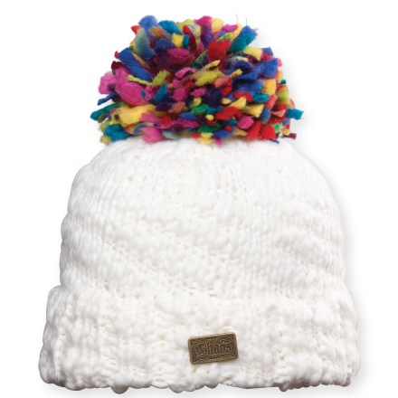 Ski The Chaos Acid beanie is a fun addition to your winter wear. Soft acrylic provides the warmth of wool without the itch, and it dries quickly. Closeout. - $9.83