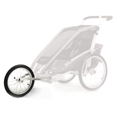 Fitness This Corsaire 2 CTS jogging kit converts your Chariot Carriers Corsaire 2 chassis (not included) into a jogging stroller. Just attach the arms to your carrier and you are off. Comes complete with 16 in. aluminum-spoked wheel, quick-release skewer and 2 wheel arms; attaches in seconds with the push of a button. When not in use, wheel can be stored on the carrier. - $59.93