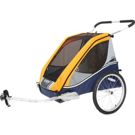 Fitness Take the tykes out with you in the Chariot Cabriolet, which comes with the Cycling Kit and can be converted for a variety of other activities, making it a versatile companion for your family outings. - $224.93