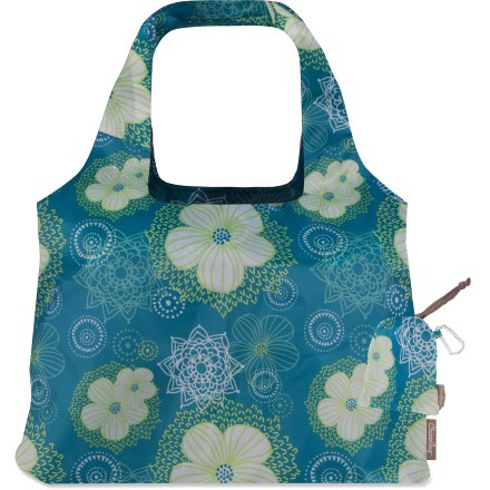 Entertainment The ChicoBag Vita Solstice is a shoulder-style reusable bag with a 40 lb. carrying capacity. It's crafted from pretty printed fabric and is perfect for trips to the market, bookstore or beach. - $8.93