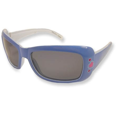 Entertainment Get your little princess started off right with these cute polarized sunglasses that feature playful accents. They're just for kids. - $7.93