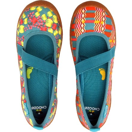 These 1-of-a-kind Chooze Spin girls' slip-on shoes feature spunky fabrics that celebrate her creative energy. - $22.83
