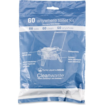 Camp and Hike Refills for The PETT(TM) Portable Environmental Toilet, these single-use, zip-close Cleanwaste WAG BAG(R) Toilet in a Bag(TM) human waste bags can also be used separately for camping. - $34.00