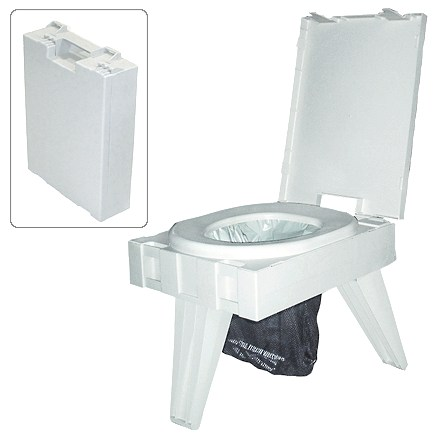 Camp and Hike This innovative, environmentally friendly Cleanwaste PETT portable environmental toilet has full-size features but folds to an easy-to-carry briefcase size for travel. - $79.95