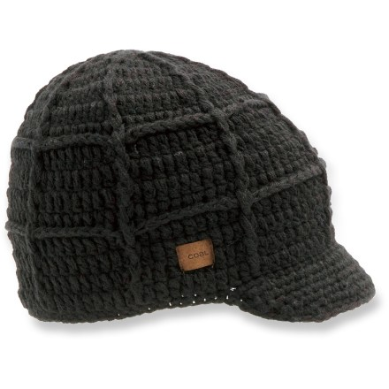 Entertainment Travel around snow-covered streets with the comfortable Coal Hectare Brim beanie. Acrylic exterior with polyester fleece headband lining provides great warmth. Soft brim and suede label add style. - $12.83