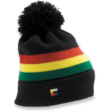 Entertainment The Coal Freezin beanie has an old-school look that pays homage to the 1980s. Fine acrylic yarn has a soft hand that is comfortable next to skin. - $13.93