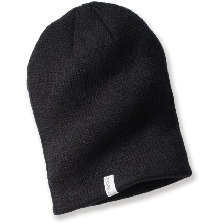 Entertainment Keep up with the latest style with the Coal Frena beanie. It has a modern fit with a bit of a slouchy look. Fine acrylic yarn has a soft hand for great comfort. - $13.93