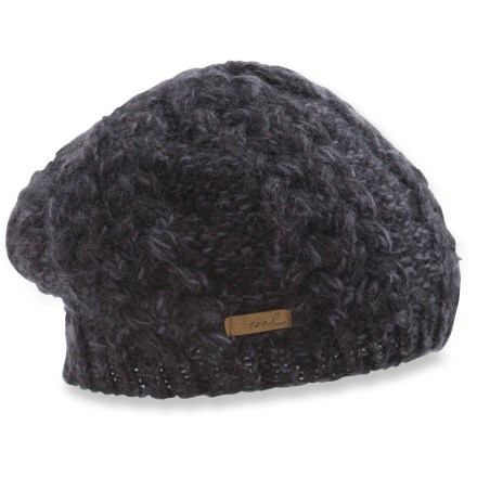 Entertainment The Coal Addie beanie fits like a beret and is beautifully detailed with cable-knit acrylic yarn. Acrylic yarn mimics mohair, providing great warmth in cold weather. - $16.83
