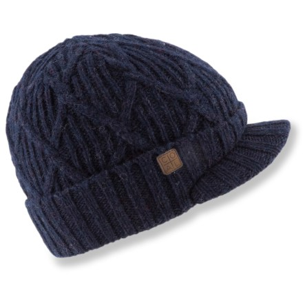 Entertainment Travel to cold places in comfort with the Coal Yukon Brim hat. Chunky-knit wool is lined with soft polyester fleece for great warmth and comfort next to skin. Short brim adds style. - $16.83