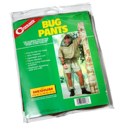 Camp and Hike These Bug Pants from Coghlan's offer chemical-free, lotion-free relief from those pesky flying insects. - $12.50