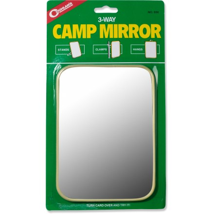 Camp and Hike This versatile mirror will come in handy on your next camping trip. - $3.75