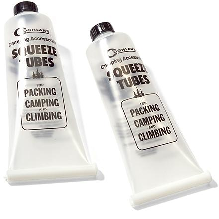 Camp and Hike These reusable squeeze tubes are perfect for packing along food and condiments for camping, hiking or climbing. - $4.75