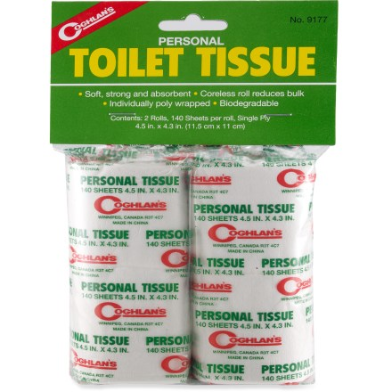 Camp and Hike Carry soft, strong and absorbent Coghlan's toilet paper on your next camping trip. - $2.50