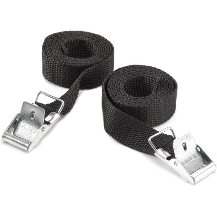 Camp and Hike Utilitarian in design, this pair of Coghlan's Arno straps are woven for strength yet easily shortened to desired length for all your backing and camping needs. - $2.93