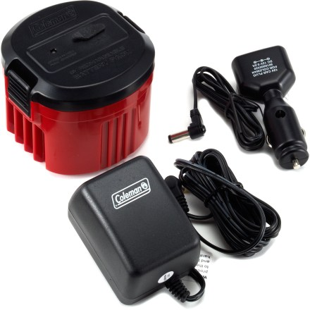 Camp and Hike Use the Coleman CPX(TM) 6 rechargeable battery pack in place of 4 D disposable batteries in your Coleman CPX 6-compatible appliances (sold separately). - $24.95